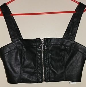 4c4391a74bf5a Forever 21 Tops - Sexy cropped leather top Large